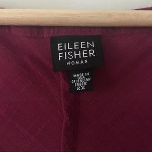 Eileen Fisher Dresses - Eileen Fisher linen shift dress in berry